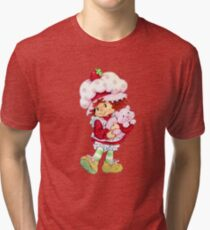 Strawberry Shortcake & Custard Tri-blend T-Shirt