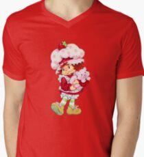 Erdbeer Shortcake & Vanillepudding T-Shirt mit V-Ausschnitt für Männer
