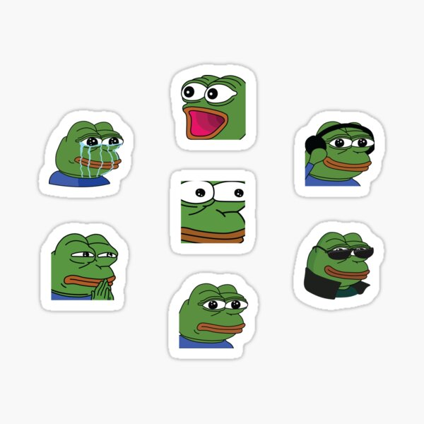 Pepe Twitch Emotes Pack 2 Sticker