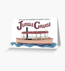 Jungle Cruise Greeting Card