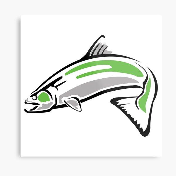 Chinook Salmon Green Fish #2 BC Metal Print