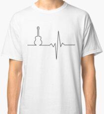 Camiseta clásica Corazón de guitarra