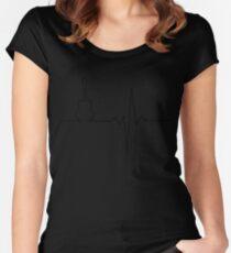 Guitar heart Women's Fitted Scoop T-Shirt