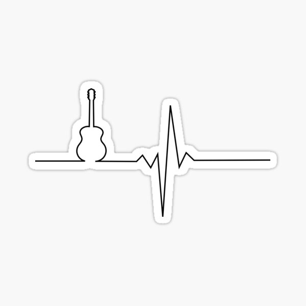 Guitar heart Sticker