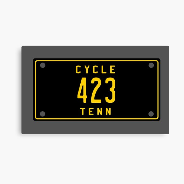 Tennessee Vintage Motorcycle License Plate 423 (Area Code 423) Canvas Print