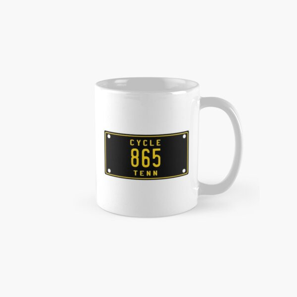 Tennessee Vintage Motorcycle License Plate 865 (Area Code 865) Classic Mug