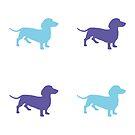 Sausage Dog Pattern by YingDude