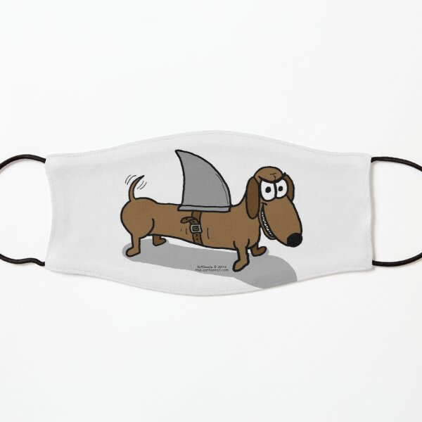 Wiener Dog with a Shark Fin Kids Mask