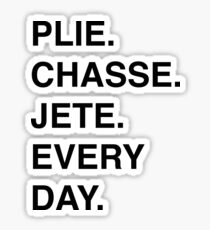 PLIE CHASSE JETE EVERY DAY Sticker