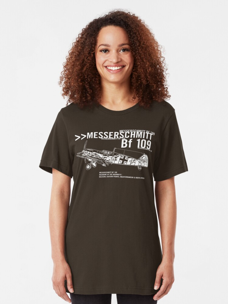 Alternate view of Messerschmitt BF 109 Slim Fit T-Shirt
