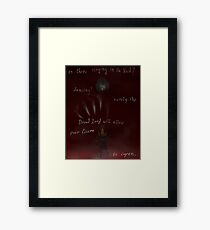 Is There Singing In The Void? Framed Print