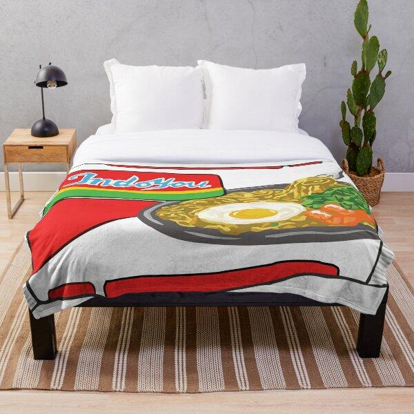 Indomie Sticker Throw Blanket