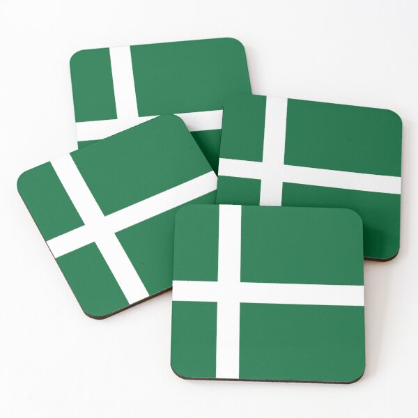Flag of the Isle of Barra (Outer Hebrides), Scotland Coasters (Set of 4)
