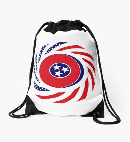 Tennessean Murican Patriot Flag Series Drawstring Bag