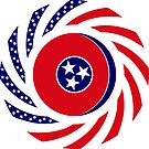 Tennessean Murican Patriot Flag Series by Carbon-Fibre Media