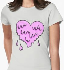 dripping heart  Womens Fitted T-Shirt