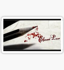 love eternal Sticker