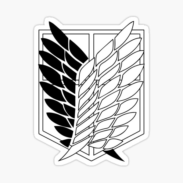 Attack On Titan Wings of Freedom Scout Regiment Shield Sticker