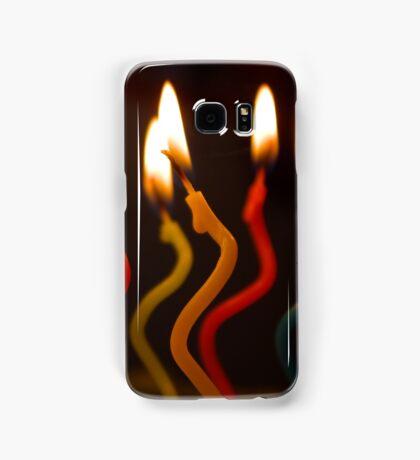 curly candles Samsung Galaxy Case/Skin