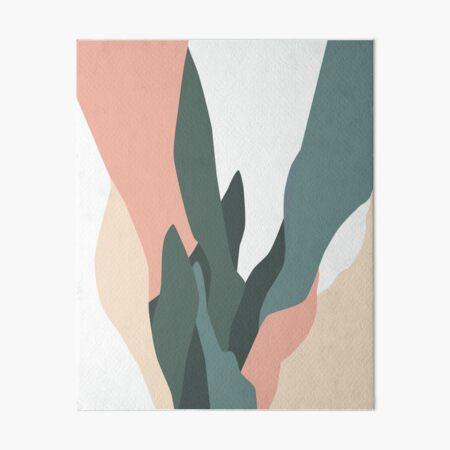 Summer Snake Plant Abstract Art Art Board Print