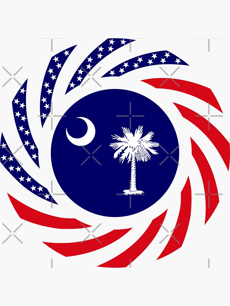 South Carolina Murican Patriot Flag Series by carbonfibreme