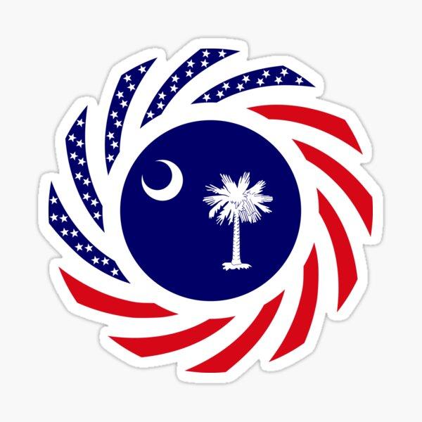 South Carolina Murican Patriot Flag Series Sticker