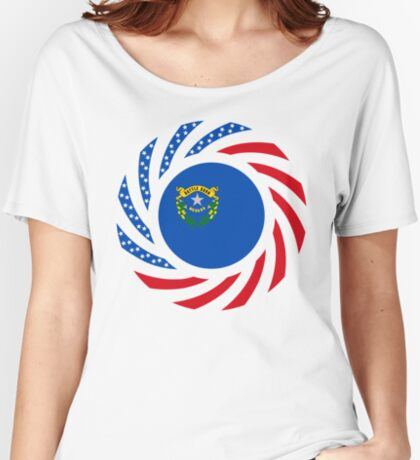 Nevadan Murican Patriot Flag Series Relaxed Fit T-Shirt