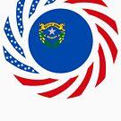 Nevadan Murican Patriot Flag Series by Carbon-Fibre Media