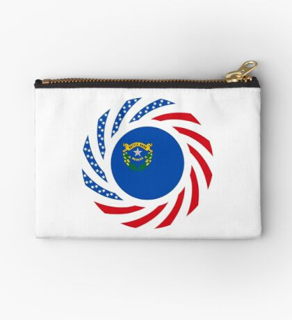 Nevadan Murican Patriot Flag Series Zipper Pouch