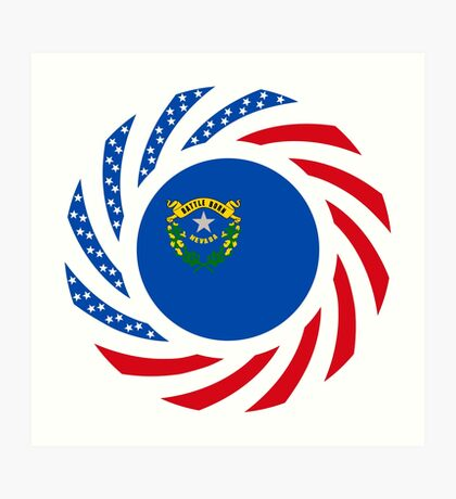 Nevadan Murican Patriot Flag Series Art Print