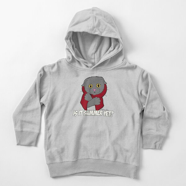 Is It Summer Yet? (Red Scarf) Toddler Pullover Hoodie