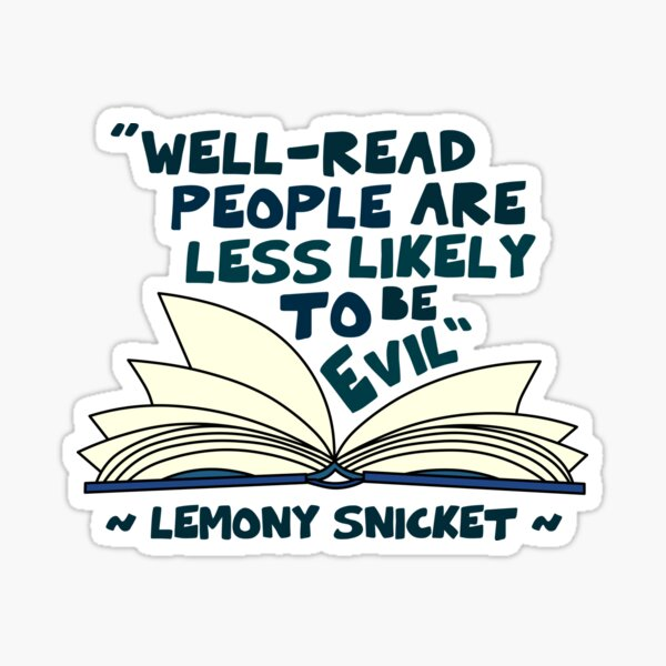 A Series of Unfortunate Events - Lemony Snicket Sticker