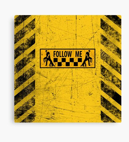 follow me dancer - used look Canvas Print