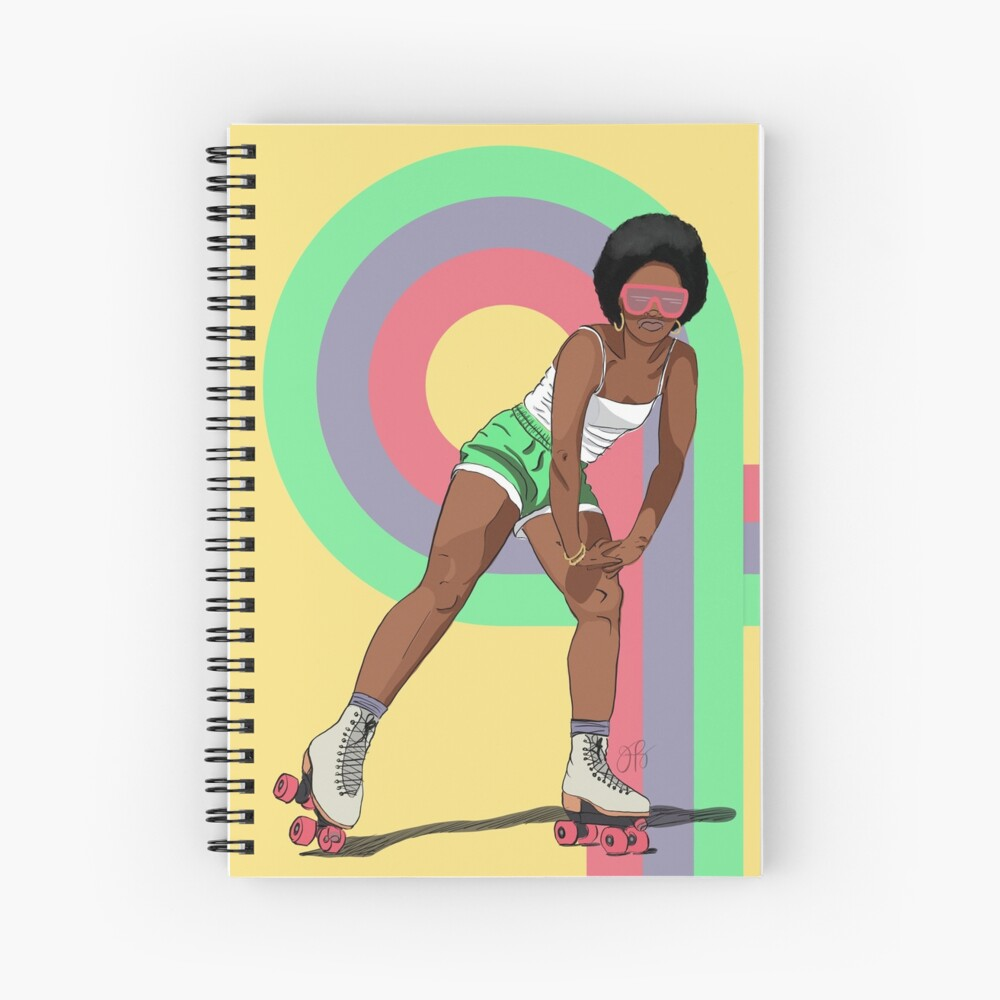 Rock With It - Rollergirl 1 Spiral Notebook