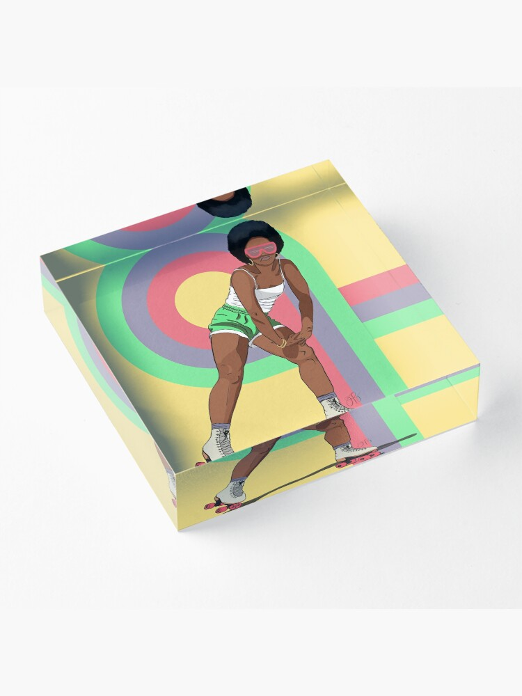Alternate view of Rock With It - Rollergirl 1 Acrylic Block