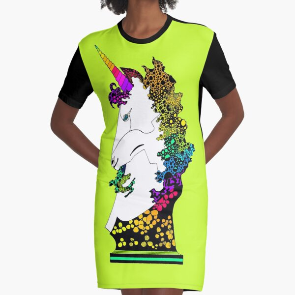 Uni-on-Green Graphic T-Shirt Dress