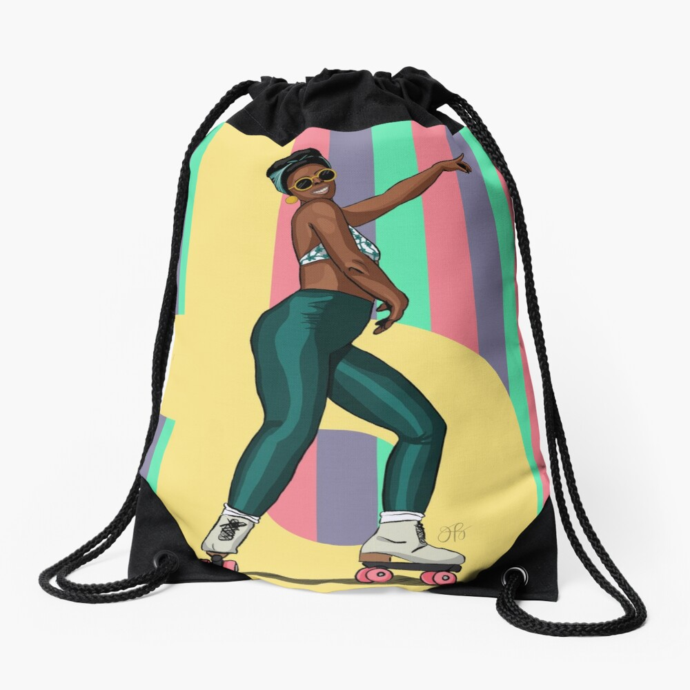 Roll With It - Rollergirl 2 Drawstring Bag