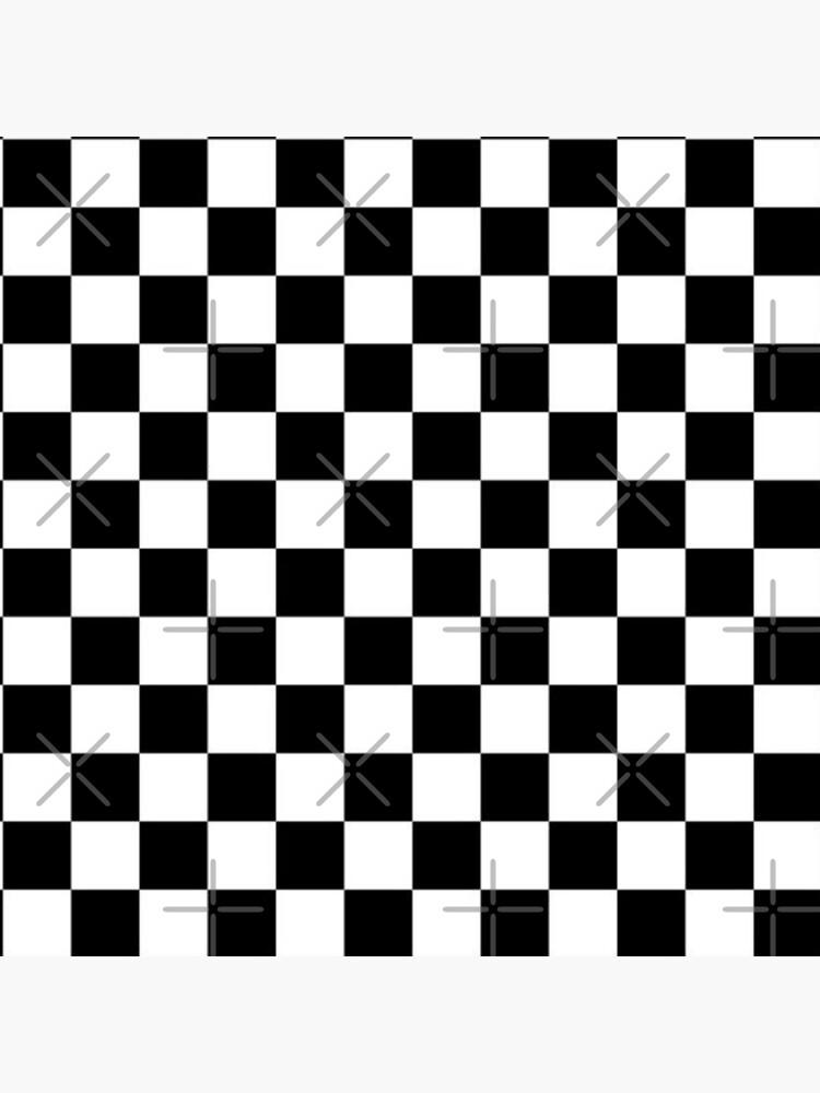 Black and white check board design  by Apolonija