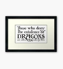 Dragons! Framed Print