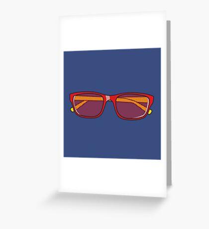 Pop Art Glasses Greeting Card
