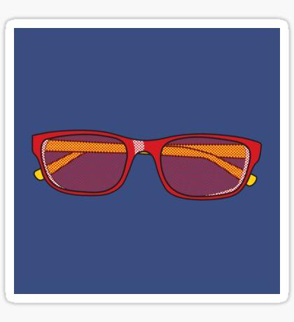 Pop Art Glasses Sticker