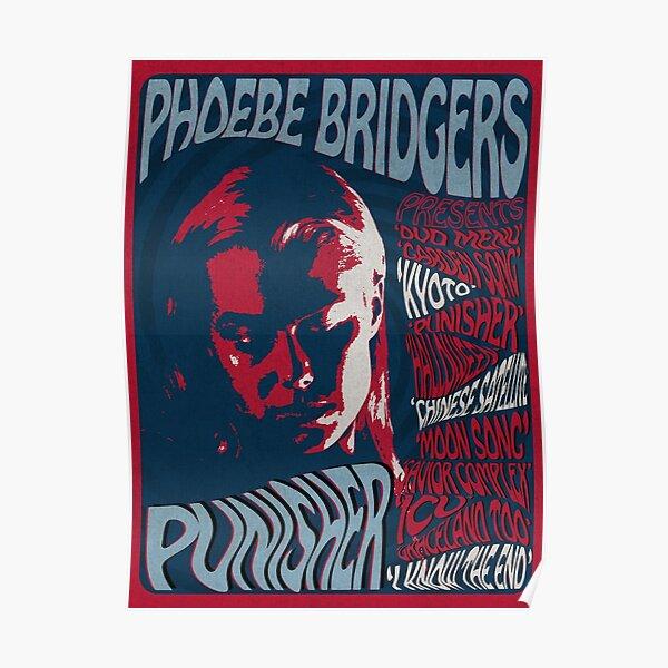 Phoebe Bridgers Punisher psychédélique Poster