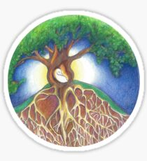 SANCTUARY Moonrise Permaculture Logo Sticker
