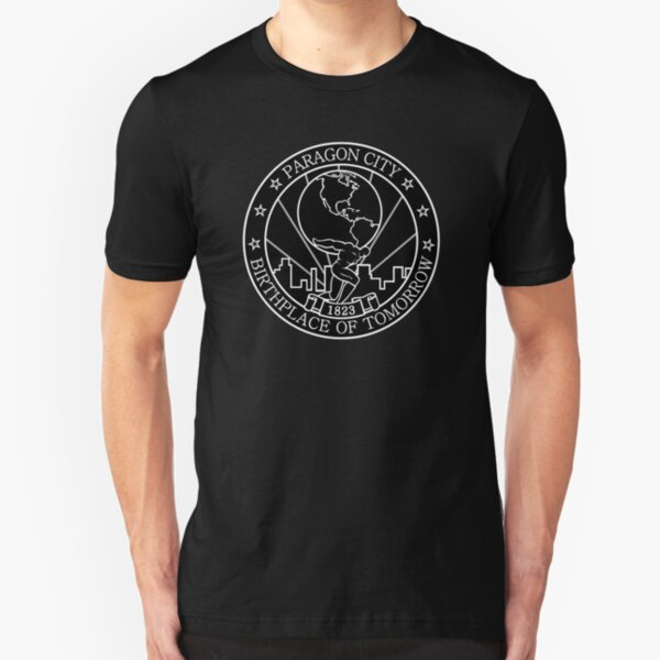 Paragon City - Birthplace of Tomorrow Slim Fit T-Shirt