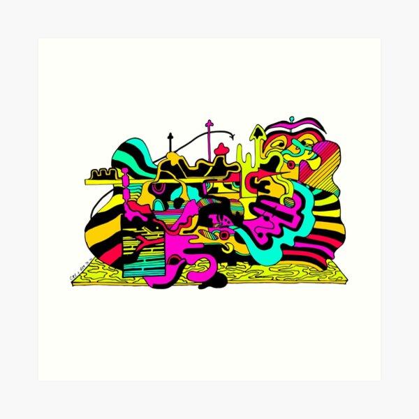 This is the Hubbub Art Print