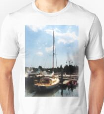 Docked Cabin Cruiser Unisex T-Shirt