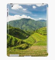 Landscape of rice terraces in china iPad Case/Skin