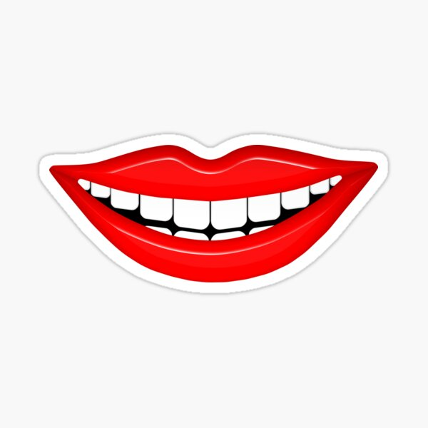 Smiling Mouth With White Teeth Sticker