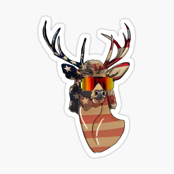Deer Mullet USA Sticker