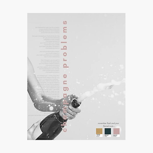 Champagne Problems Taylor Swift Poster - Evermore Album Photographic Print